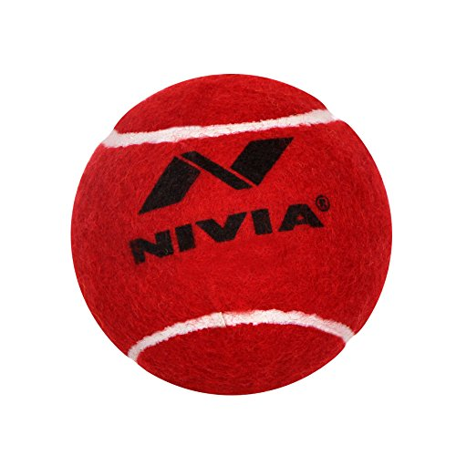 Nivia Leather Cricket Ball,  Red