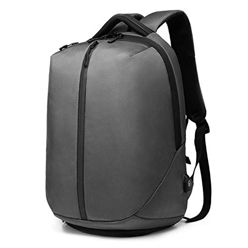 New Laptop Backpack Men 1680D Oxford USB Charging Travel Backpack Anti Theft Waterproof Zipper Fitness Bag Shoes Pocket,Grey]()