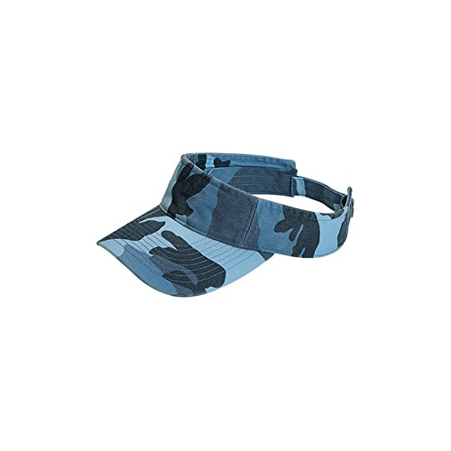 MG Camouflage Pattern Washed Outdoor Sun Visor - Blue Camo