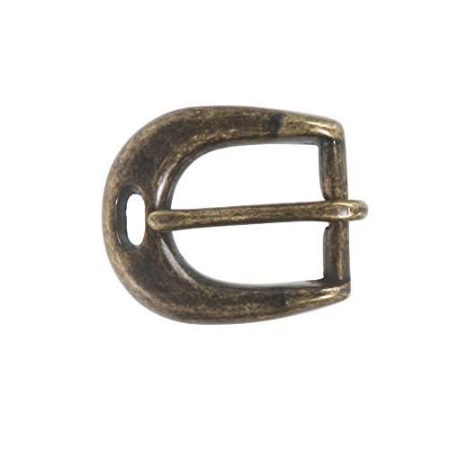 "3/4"" (19 mm) Single Prong Solid Brass Horseshoe Belt Buckle, Antique Brass from beltiscool"