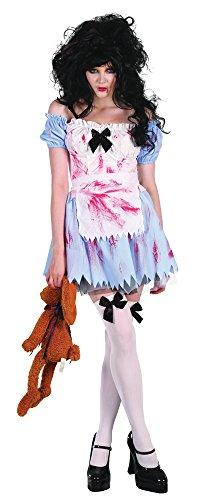 Bristol Novelty AC283 Zombie Girl Costume, White, UK Size 10-14]()