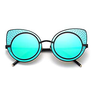 TIJN Retro Cat Ear Sunglasses for Women 48mm