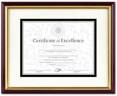 Amazon Com Document Certificate Frame W Mat Plastic 11 X