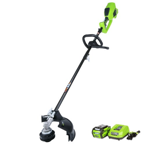 Greenworks 14-Inch 40V Cordless String Trimmer (Attachment Capable), 4.0 AH Battery Included 21362 (Cordless Yard Tools)
