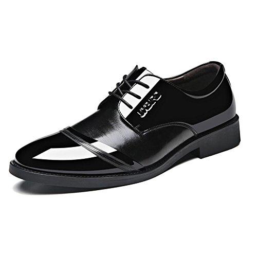 Verniciata Stile da Pelle Scarpe Black2 Morbido in Brogue Fondo in Scarpe Uomo Scarpe in Nera Pelle Cerimonia da nq1B6