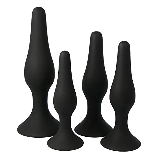 4Pcs Perfect Size Silicone Ànâles Plugs Adult Toys for Couples Beginner