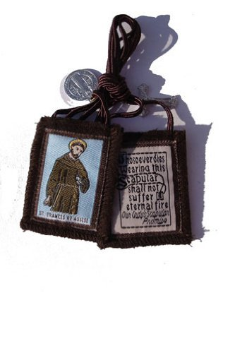 (St. Francis Brown Scapular with Medallions)