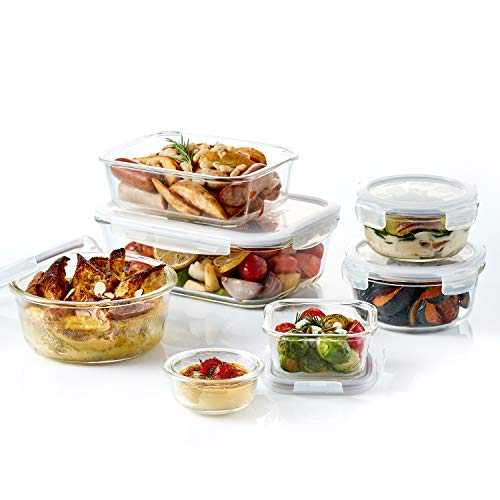 - Lock & Lock LLG455S3A 6-Piece Food Borosilicate Glass Storage Container Set, Clear