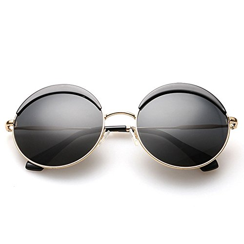 Authentic 70s Guy Costumes For Men (A-Royal Retro Classic Fashion Cute Round Uv Sunglasses(C1))