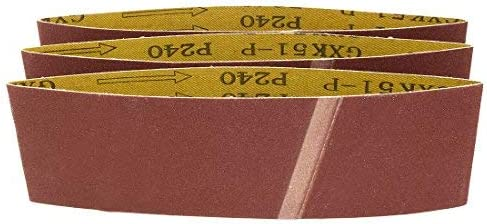 - Aluminum Oxide Sanding Belt, Polishing Joint, 240 Mm, 3 Inches X 18 Inches, 3 Pieces
