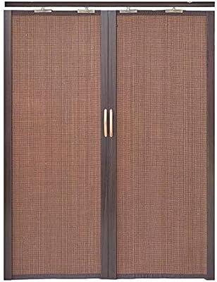 Jcnfa-Persianas Cortina De Bambú Puerta Corredera Plegable Doble ...