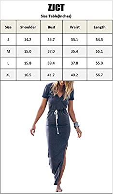 Women's Sexy V Neck Casual Beach Club Maxi Dresses Wrap Summer Long Party Dress
