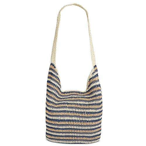 Crochet Hobo Bag - Style & Co. Womens Crochet Striped Hobo Handbag Navy Medium