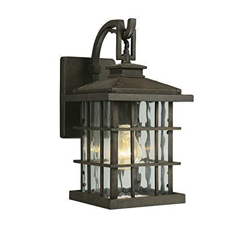 Design House 508275 Townsend 1 Light Indoor/Outdoor Wall Light, Statuary Bronze