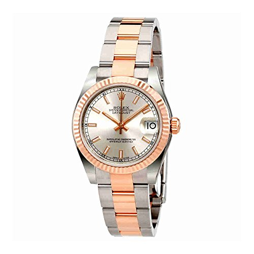 Rolex Datejust Lady 31 Silver Dial Stainless Steel and 18K Everose Gold Rolex Oyster Automatic Watch 178271SSO