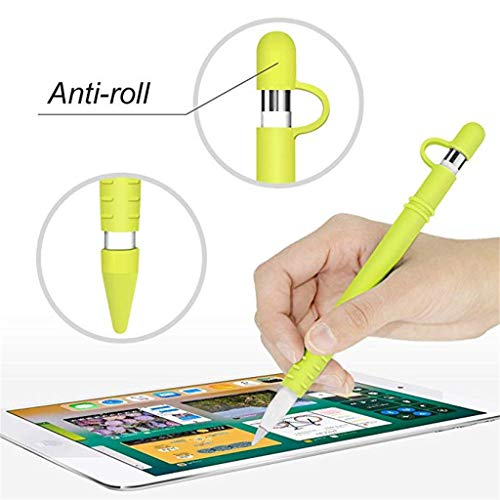 LiboboCover Case Protective Kit for Apple Pencil for iPad Air 10.5/Mini 5/Pro 12.9/9.7 (Yellow)