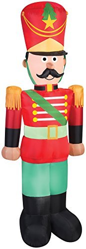 Christmas Inflatable LED 7' Toy Soldier Nutcracker Airblown Yard decoration By Gemmy