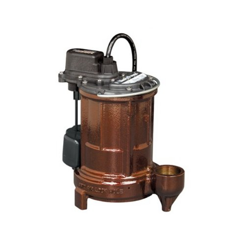 Liberty Pumps 257 1/3-Horse Power 1-1/2-Inch Discharge 250-Series Cast Iron Automatic Submersible Sump/Effluent Pump with VMF Switch
