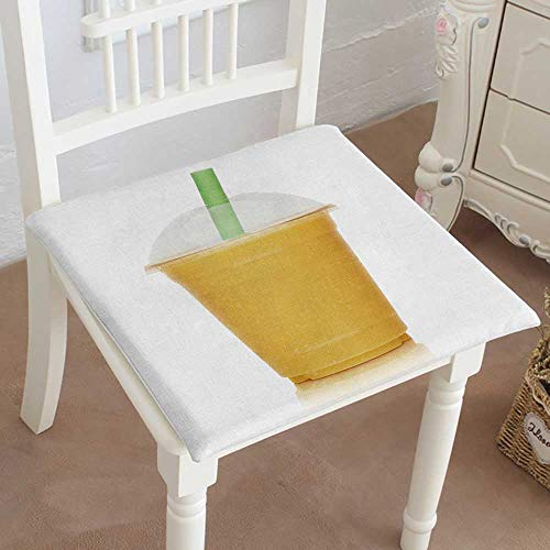 Mikihome Dining Chair Pad Cushion Fruit Smoothie Shake Isolated on White Background Fashions Indoor/Outdoor Bistro Chair Cushion 26