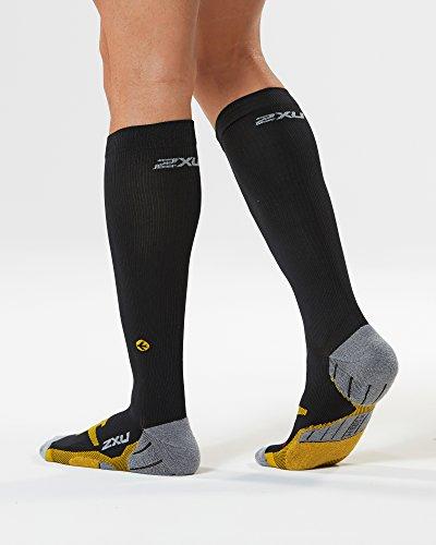2xu Yellow Black Ma4429 Socks Flight Men Compression 4Tnpqx4