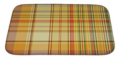 Gear New GN-BMAT-MF-A-3649-3421 Checkered Pattern Bath Rug Mat No Slip Microfiber Memory Foam