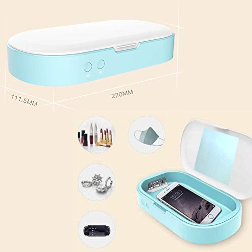 MIFAVOR Cleaner Box with Aromatherapy Jewelry Eye Glass Cleaner for Salon Nail Make up Tools, Watches, Toy, Keys, Phone, Masks