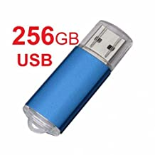 NEW!!Sleek BLUE 256GB BRAND NEW USB 2.0 Thumb Pen Flash Drive Memory Stick Storage