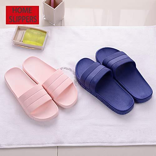 Anti Home Slipper Sandal Indoor Finleoo Bath Women House Slip Men Blue xZ0wp0HIq