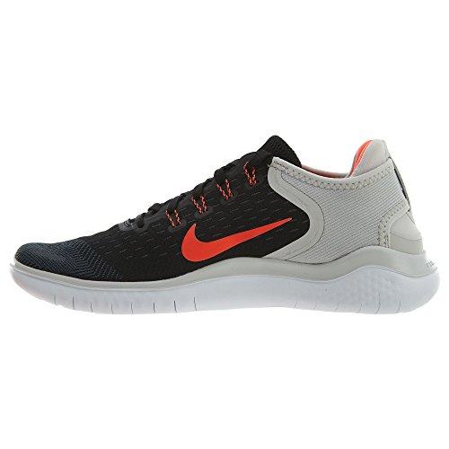 Nike Herren Laufschuh Free Run 2018 Schwarz (Black/Total Crimson- 005)