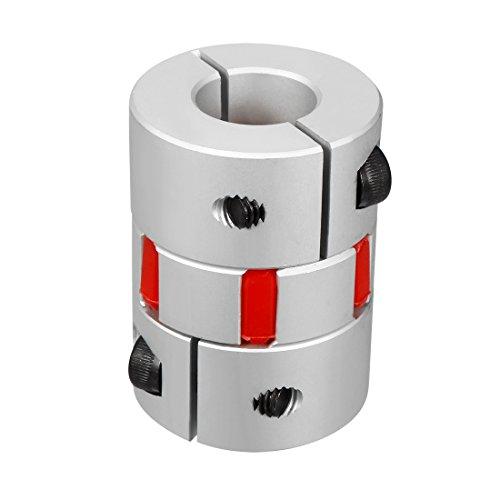 uxcell - Acoplamiento de eje elástico para motor flexible, 15 to 19mm, L55xD40mm
