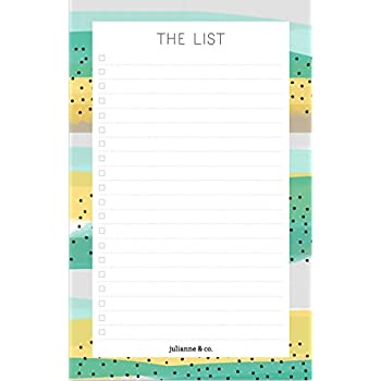 """Ultimate Magnetic To Do List Notepad by Julianne & Co -Shopping & Grocery Checklist Pad with 20 Check Boxes, Organize Your Daily Tasks, Events & Chores, Beautiful Checkbox List -5""""x8"""" -50 Paper Sheets"""