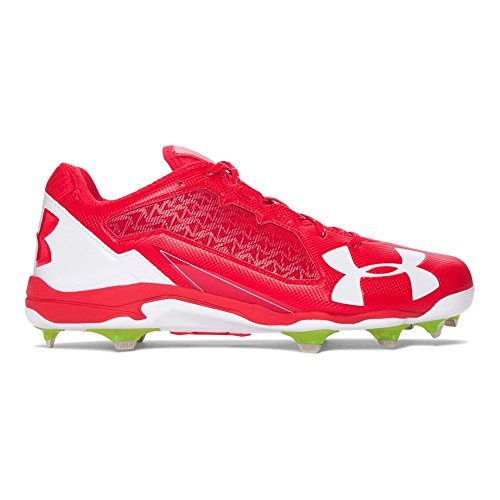 Perfect Games Mlb History - Under Armour Men's Deception Low DiamondTips, Red (611)/White, 10
