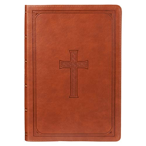 Holy Bible: Tan KJV Bible Super Giant Print