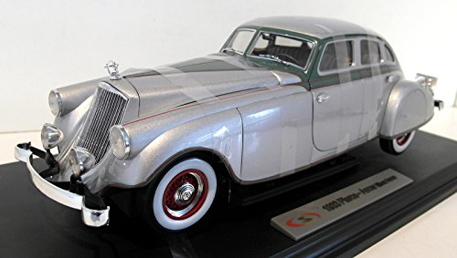 - Signature Models 18136 1933 Pierce Arrow Silver 1/18 Diecast Model Car