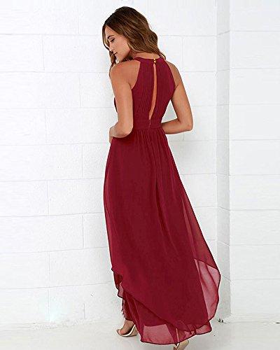 Minetom Damen Abendkleid Elegant Halter Ärmellos Cocktailkleid ...