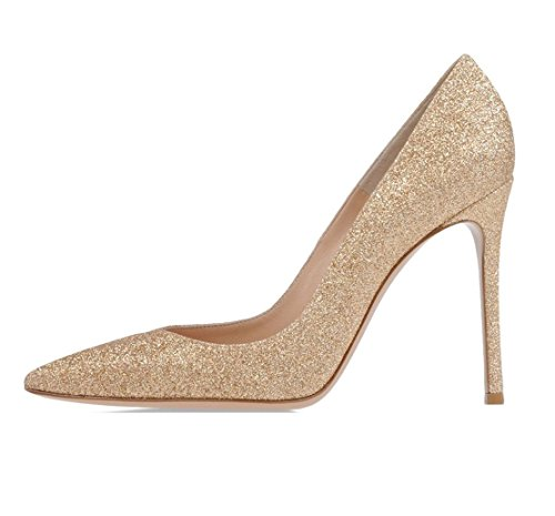 Soireelady Women's Court Shoes,High Heel Dress Shoes,Formal Office Party Dance Shoes Glitter