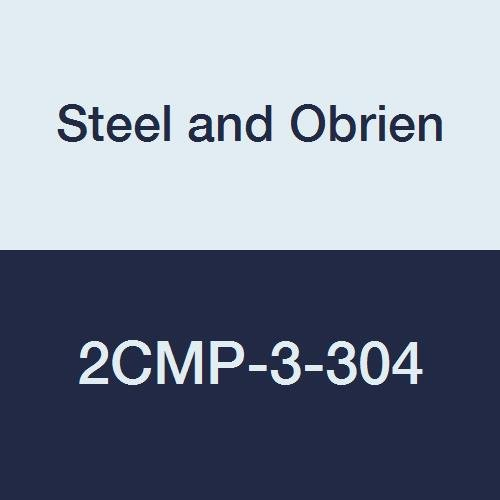 Steel and Obrien 2CMP-3-304 Stainless Steel Clamp, 90 degree Elbow, 3