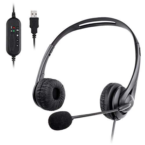 🥇 Muljexno Auriculares con Micrófono para PC