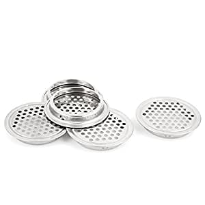 uxcell Mesh Panel Shoes Cabinet Air Vent Louver Cover 53mm Bottom Dia 5pcs