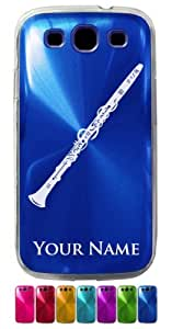 Samsung Galaxy S3 Siii Case/Cover - CLARINET, MUSICAL INSTRUMENT - Personalized for FREE (Click the CONTACT SELLER button after purchase and send a message with your case color and engraving request)