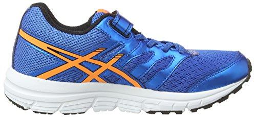 Asics Gel-zaraca 4 Ps, Unisex-Kinder Laufschuhe Blau (electric Blue/hot Orange/black 3930)