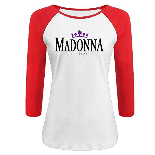 Women's Madonna Like A Prayer Raglan 3/4 sleeve shirt XXL