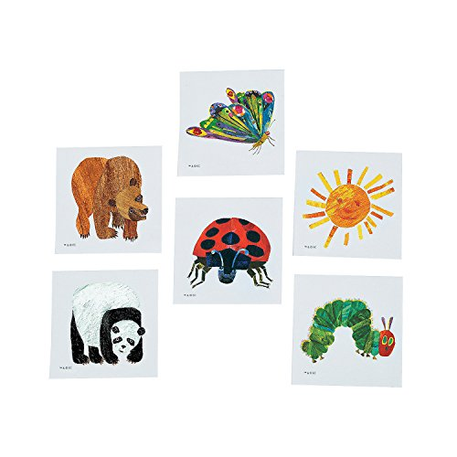 Eric Carle Temporary Tattoo Assortment (72 Pieces) -