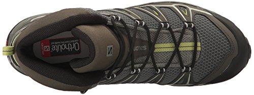 Ultra Aero Boot Salomon Mid Fern Beluga Castor Hiking X Gray Men's UEYEqBI7