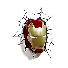 3D Light FX Marvel Iron Man Mask 3D-Deco LED Wall Light
