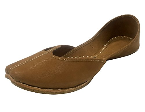 Step n Style Ladies Brown Punjabi Jutti Khussa Shoes Ethnic Mojari Flat Ballerina 4aYYg2K0wY