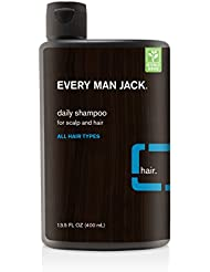 Every Man Jack Daily Signature Mint Shampoo for All Hair Types, 13.5 oz