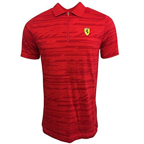 2017 Ferrari Puma AOP Polo Shirt (Rosso - New Ferrari 2017
