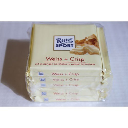 Ritter Sport Weiss Und Crisp, 5 Pack (5 X 100 G)