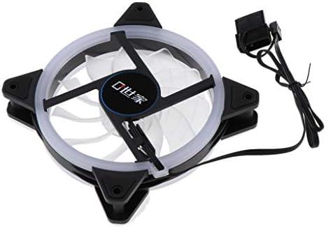Fenteer - Ventilador para PC (120 mm, LED, silencioso, con radiador, LED Azul, Conector de 3 Pines y 4 Pines de Doble Modo): Amazon.es: Electrónica